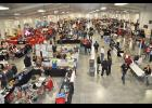 More than 1,200 firefighters attended the 2014 Nebraska State Fire School held at the state fairgrounds in Grand Island on May 16-18. Pictured is one of the vending areas just before opening ceremonies on Friday morning. Photo by Jeff Gargano, Nebraska Firefighter.